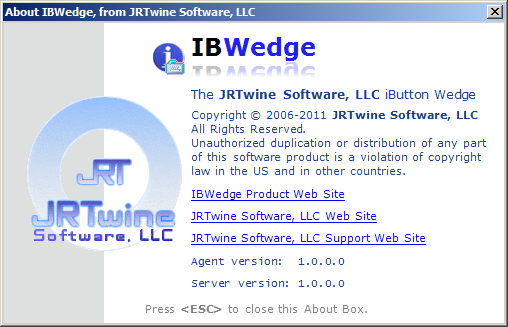 IBWedge Agent About Box
